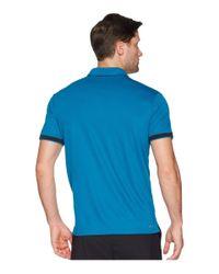Nike - Blue Court Dry Tennis Polo (clay Green/black/black) Men's Clothing for Men - Lyst