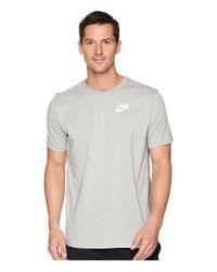 Nike - Gray Dry Tee Dri-fittm Solid Swoosh 18 (dark Grey Heather/white) Men's T Shirt for Men - Lyst