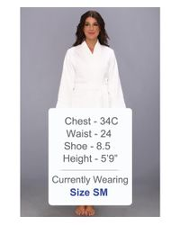 Lauren by Ralph Lauren | White Greenwich Woven Terry Robe | Lyst