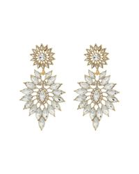 Guess - Metallic Starburst Stone Statement Earrings - Lyst