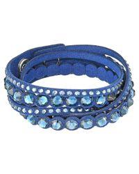 Swarovski | Blue Slake Dot Bracelet | Lyst