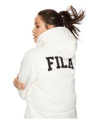 Fila - Multicolor Grace Puffer Jacket (gardenia/black) Women's Coat - Lyst