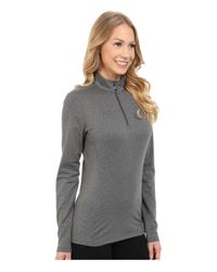 Hot Chillys - Gray Micro-elite Chamois 8k Solid Zip-t - Lyst