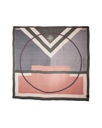 Vince Camuto - Green Military Color Block Square Scarf - Lyst