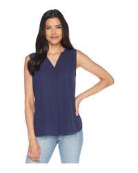 NYDJ - Blue Sleeveless Pintuck Pleat Back (peacoat) Women's Sleeveless - Lyst
