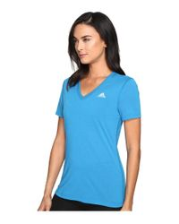 Adidas Originals - Blue Ultimate S/s V-neck Tee - Lyst