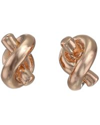 kate spade new york   Pink Sailor's Knot Stud Earrings   Lyst