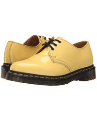 Dr. Martens - Yellow 1461 3-eye Gibson - Lyst