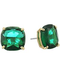 Kate Spade - Green Small Square Studs - Lyst