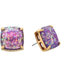 kate spade new york | Purple Small Square Studs | Lyst
