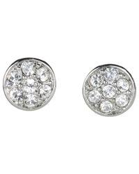 Lauren by Ralph Lauren | Metallic Small Round Crystal Studs | Lyst