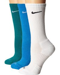 Nike - Blue Dri-fit Cushion Crew 3-pair Pack for Men - Lyst