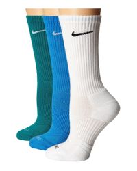 Nike - Blue Dri-fit Cushion Crew 3-pair Pack for Men - Lyst