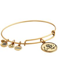 ALEX AND ANI | Metallic University Of Colorado Logo Charm Bangle | Lyst