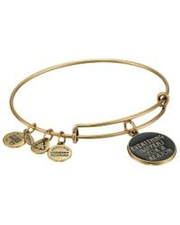 ALEX AND ANI - Metallic Everything Happens For A Reason Charm Bangle - Lyst
