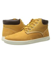 Timberland | Natural Groveton Plain Toe Chukka Leather And Fabric for Men | Lyst