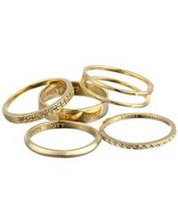 Kendra Scott | Metallic Kara Ring/midi Set | Lyst