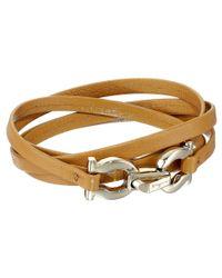 Ferragamo | Brown 344763 Gancini Bracelet | Lyst