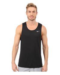 Nike | Black Dri-fittm Miler Running Singlet for Men | Lyst
