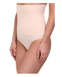 Yummie By Heather Thomson | Pink Danielle High Waist Thong | Lyst