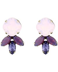 DANNIJO - Purple Luna Earrings - Lyst