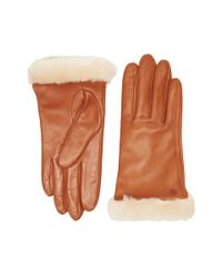 Ugg | Brown Classic Leather Smart Glove | Lyst