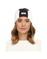 UGG - White Quilted Fabric Headband - Lyst