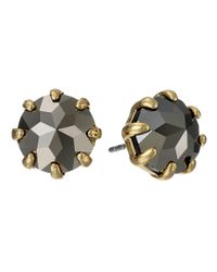 Rebecca Minkoff | Metallic Rhinestone Stud Earrings | Lyst
