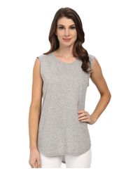 Michael Stars | Gray Hi-low Muscle Tank Top | Lyst