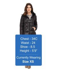 Calvin Klein - Black Packable Down Walker Coat With Velvet Collar - Lyst