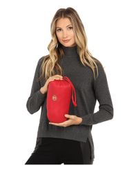 MICHAEL Michael Kors | Red Chevron Packable Down | Lyst
