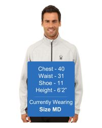 Spyder - Gray Outbound Half Zip Mid Weight Core Sweater for Men - Lyst