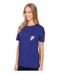 Nike - Blue Signal Tee - Lyst
