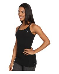 PUMA - Black Yogini Essential Layer Tank Top - Lyst