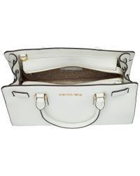MICHAEL Michael Kors - White Dillon Top Zip East/west Satchel - Lyst