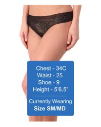 Commando - Black Weightless Lace Thong Lt18 - Lyst