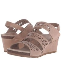 Aetrex - Brown Lexi Wedge Sandal - Lyst