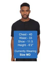 Brixton - Black Berkeley Short Sleeve Henley for Men - Lyst