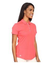 Adidas Originals - Orange Essentials Heather Short Sleeve Polo - Lyst