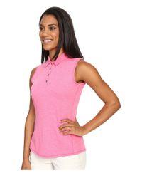 Adidas Originals - Pink Essentials Heather Sleeveless Polo - Lyst