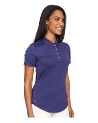 Adidas Originals - Purple Essentials 3-stripe Short Sleeve Polo - Lyst