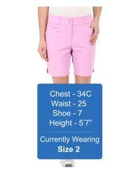 "Adidas Originals - Pink Essential Shorts 7"" - Lyst"
