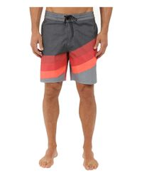 "Billabong - Red Slice Lo Tides 19"" Boardshorts for Men - Lyst"