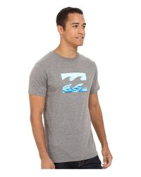 Billabong - Gray Team Wave Tee for Men - Lyst