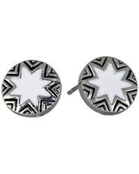 House of Harlow 1960   Black Engraved Sunburst Stud Earrings   Lyst