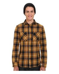 Altamont - Black Binary Long Sleeve Flannel for Men - Lyst