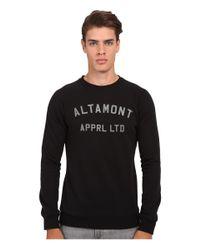 Altamont - Black Non Game Crew Fleece for Men - Lyst