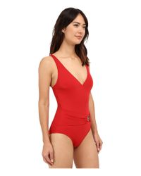 MICHAEL Michael Kors - Natural Logo Ring Surplus Maillot One-piece - Lyst