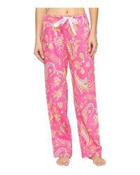Lauren by Ralph Lauren | Pink Sateen Long Pants | Lyst