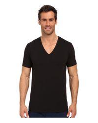 Calvin Klein - Black Modern Cotton Stretch 2-pack V-neck for Men - Lyst
